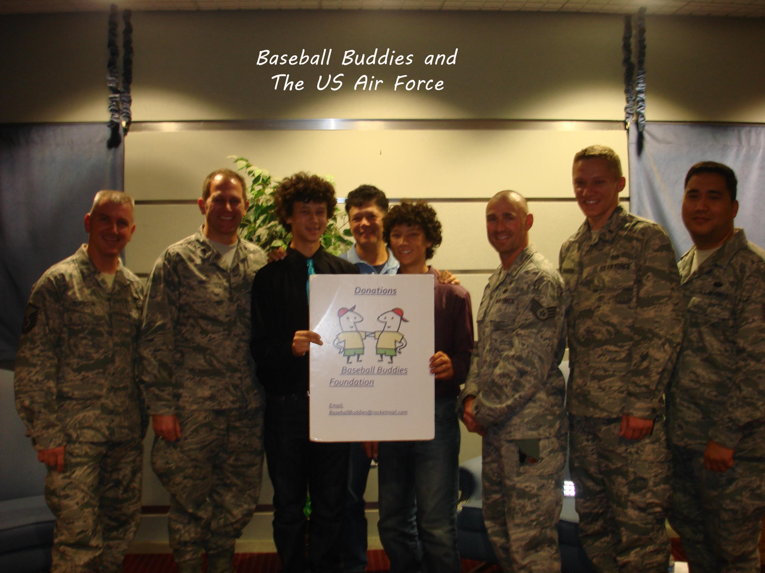 Baseball Buddies and Air Force